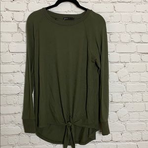 Gibson green knitted sweater